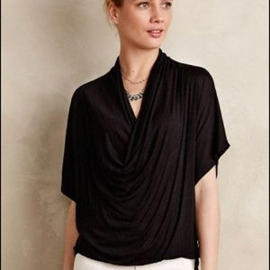 Anthropologie Diminuendo Draped Top Gray